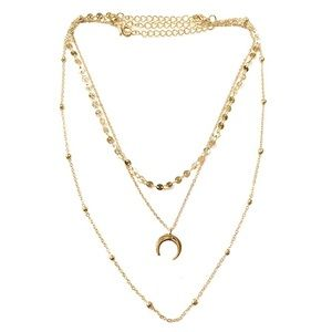 Women's 3 layers gold Tone Necklaces